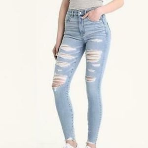 NWT AEO Ice Woman High Rise Jeggings Jeans